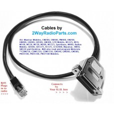 MAX(3ft) - Maxtrac Mobiles and more RIB to Radio 3ft Programming Cable