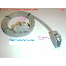 R915 - 6ft Interface Cable for Motorola RIB to Computer Programming Cable
