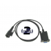 kwd43 - RS232 Serial Port Kenwood Mobile Programming cable KPG-43/KPG43 Type Round Mic Connection