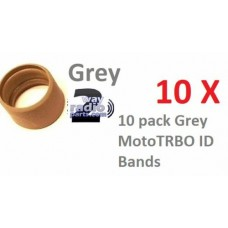 32012144001 - Motorola Antenna ID Bands 10/Pack - GRAY