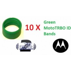 32012144003 - Motorola Antenna ID Bands 10/Pack - GREEN