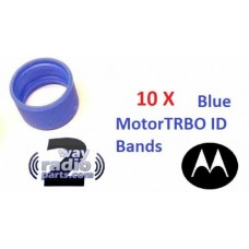 32012144004 - Motorola Antenna ID Bands 10/Pack - BLUE