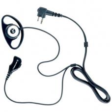 PMLN5001A PMLN5001 - Motorola D-Style Earpiece with microphone and push to talk. Two pin connector.